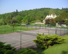 Chainlink tennis court fence