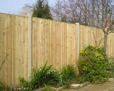Featherboard fence panel
