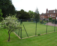 Tennis court chainlink fence