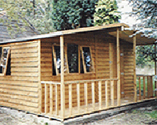 Home office shed building
